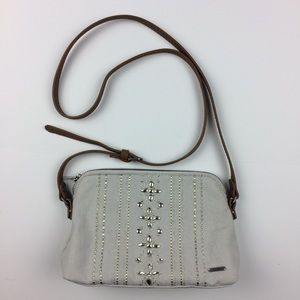Abercrombie & Fitch canvas/jeweled crossbody bag
